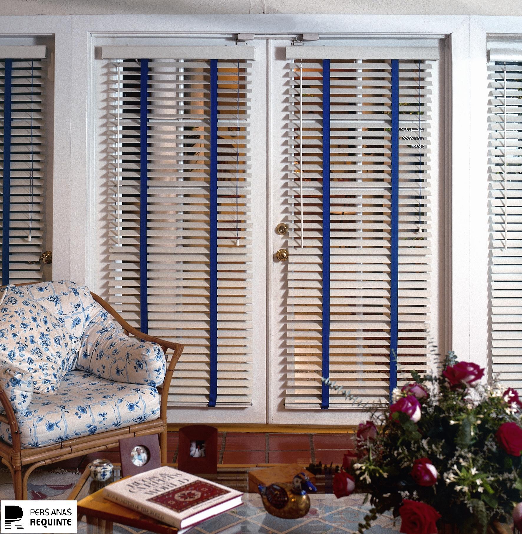 Persiana horizontal 50mm madeira natural persianas - Laminas de persianas ...